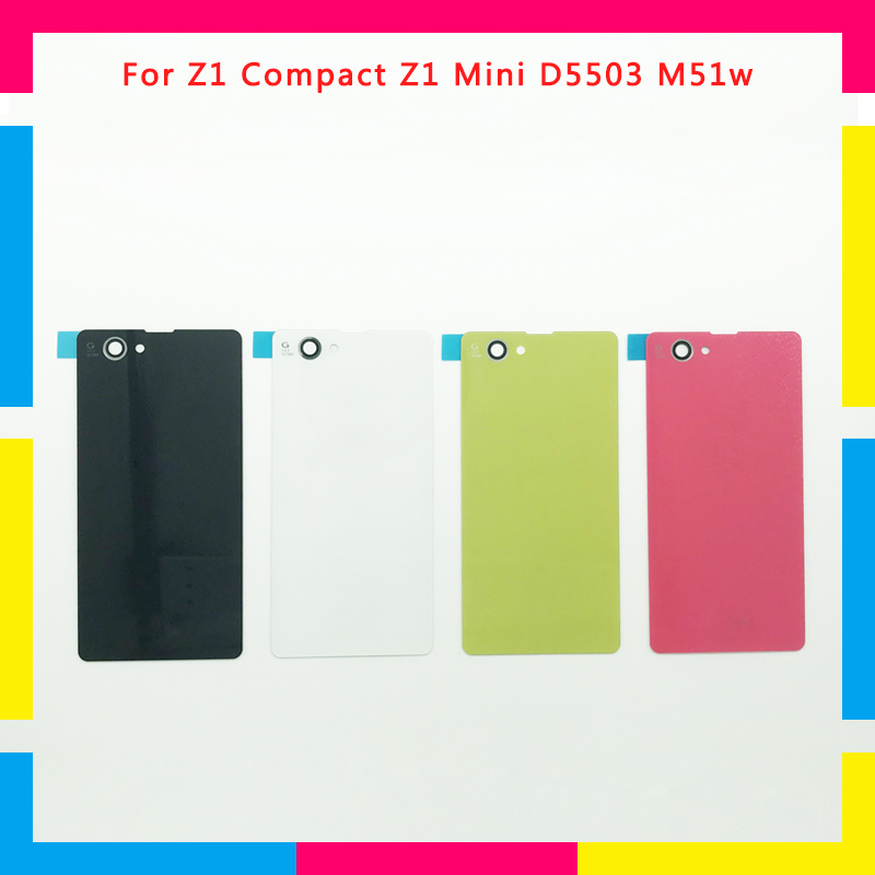 Replacement High Quality New Back Housing Battery Cover Door Rear Cover For Sony Xperia Z1 Compact Z1 Mini D5503 M51w