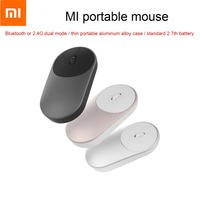 Xiaomi Mi Wireless Mouse Portable Game Mouses Aluminium Alloy ABS Material 2.4GHz WiFi Bluetooth 4.0 Control Connect