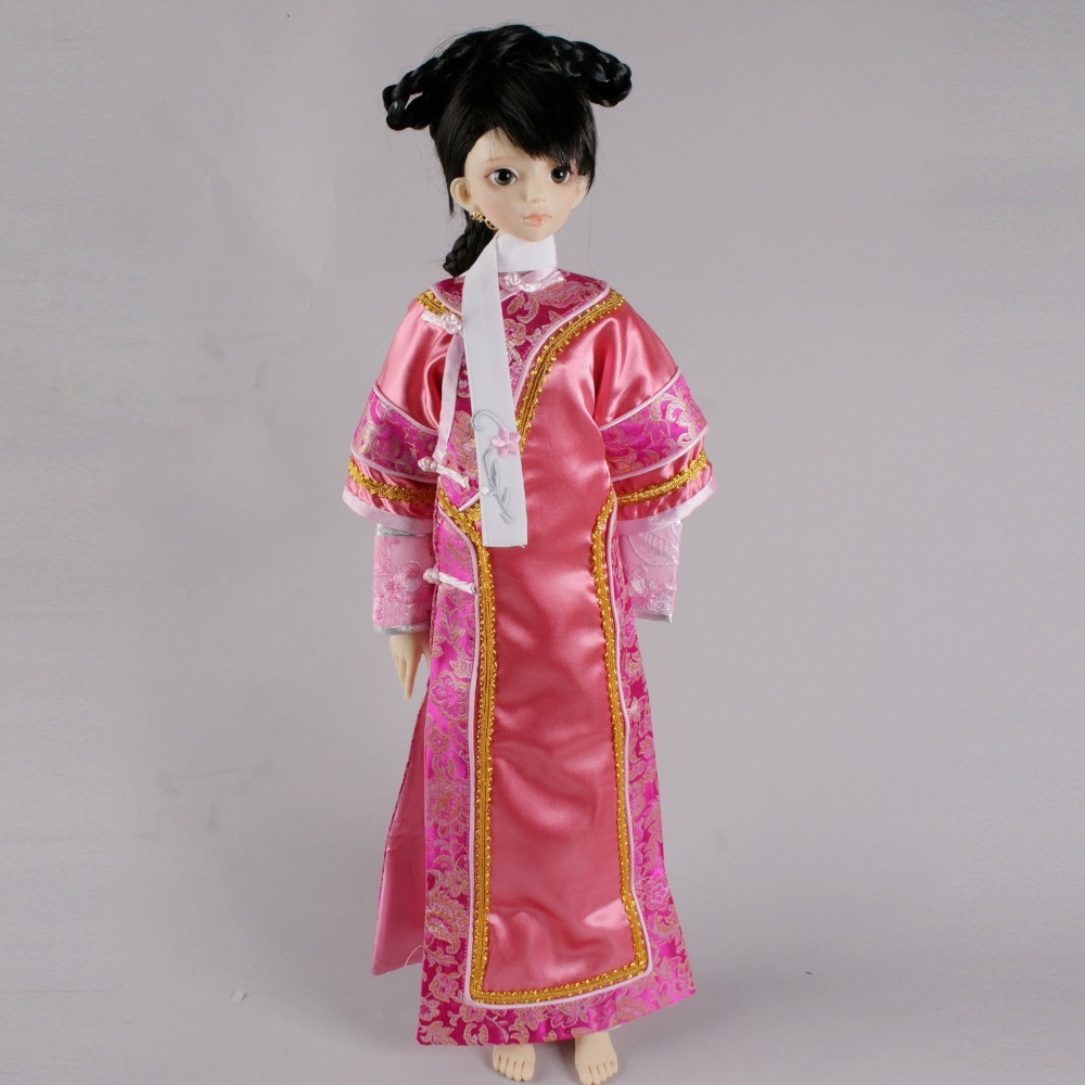 699# Pink Chinese Dynastic Lady Dress Set For 1/4 MSD AOD DOD BJD Dollfie 699 blue ancient costume dress outfit for 1 4 msd aod dod dz bjd dollfie