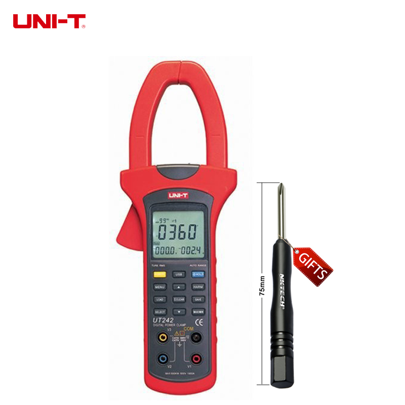 UNI-T UT242 50mm Jaw size True RMS Power and Harmonics Clamp Meter