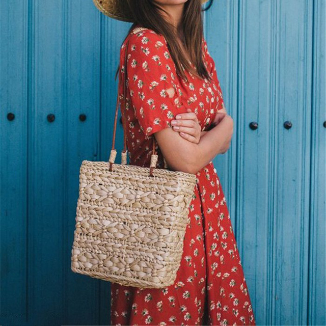 Handmade Boho Rattan Bag