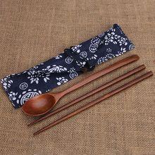 Деревянные палочки для еды и ложки дорожный костюм китайские палочки для еды экологически чистые портативные деревянные столовые приборы