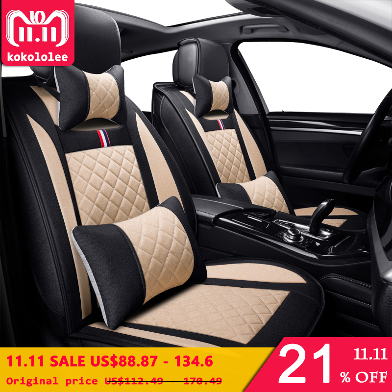 KOKOLOLEE car seat cover for toyota volkswagen RAV4 skoda rapid Lexus ES IS LS RX NX LX Prado Kia auto accessory car-styling kokololee car seat cover set for toyota chevrolet chery skoda nissan x trail honda corolla opel astra volvo kia car seat protect
