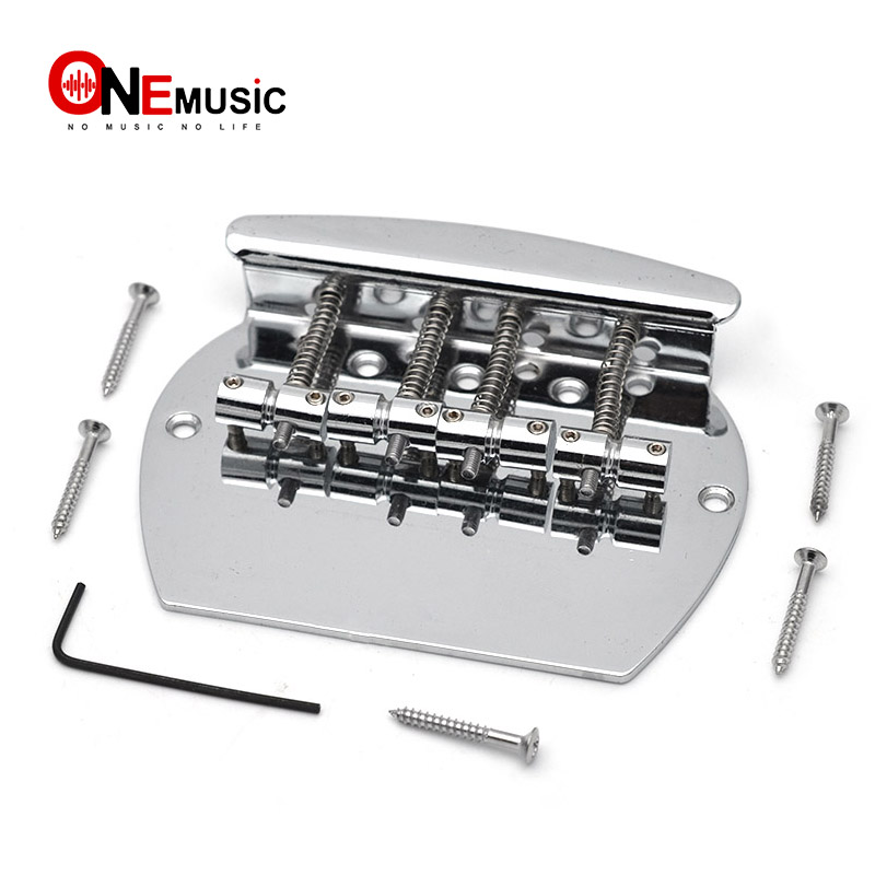 bass bridge heavy 4 string curved bass guitar bridge for electric bass chrome in guitar parts. Black Bedroom Furniture Sets. Home Design Ideas