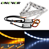 2Pcs Car Flexible Switchback LED Knight Rider Strip Light For Headlight Sequential Flasher DRL Turn Signal