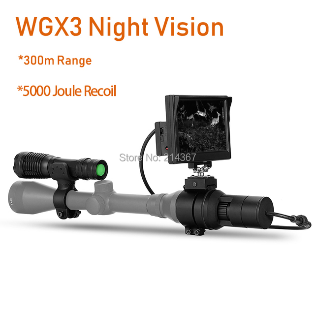 300M Range at full dark Night Vision Rilfescope Cameras 5000 Joule Recoil Strong Anti-Shock Wild Hunting Cameras