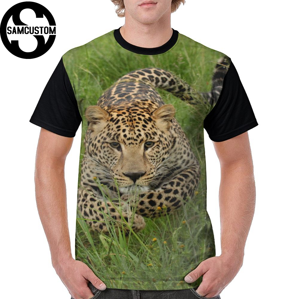 SAMCUSTOM Men T full printing Leopard 3D personalized casual spring, summer and autumn men's short sleeve T-shirt