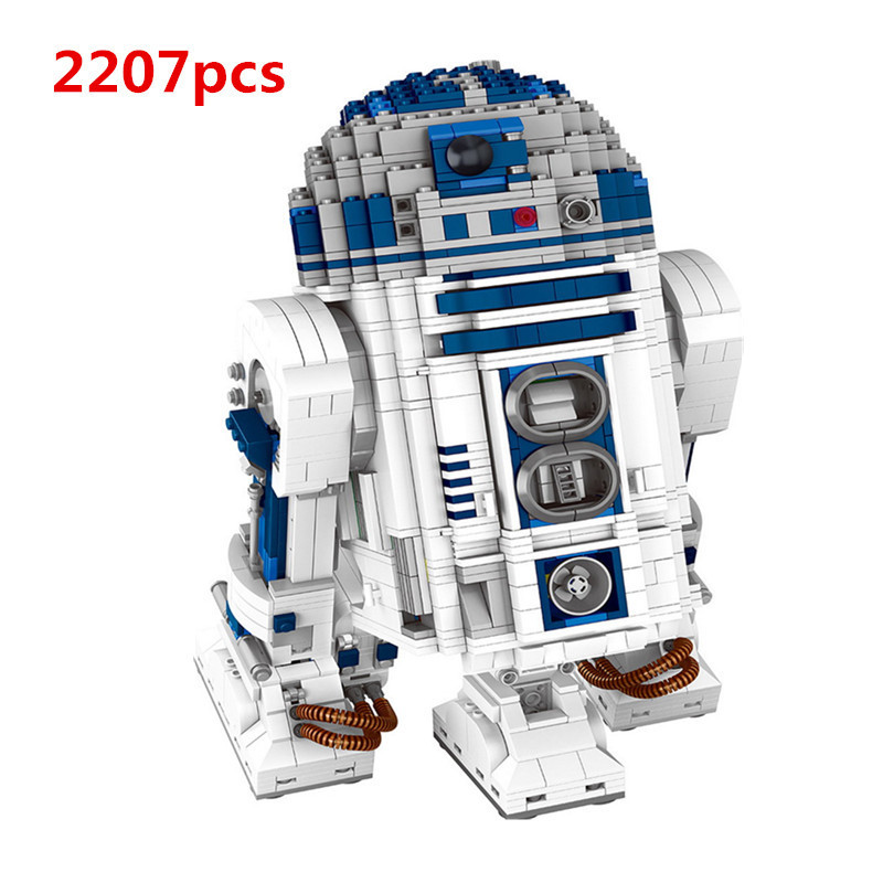 Lepin technic 05043 Genuine Star Series The R2 Robot Set D2 Out of print Building Blocks Bricks Toys children 10225 wars gifts new lepin 16009 1151pcs queen anne s revenge pirates of the caribbean building blocks set compatible legoed with 4195 children