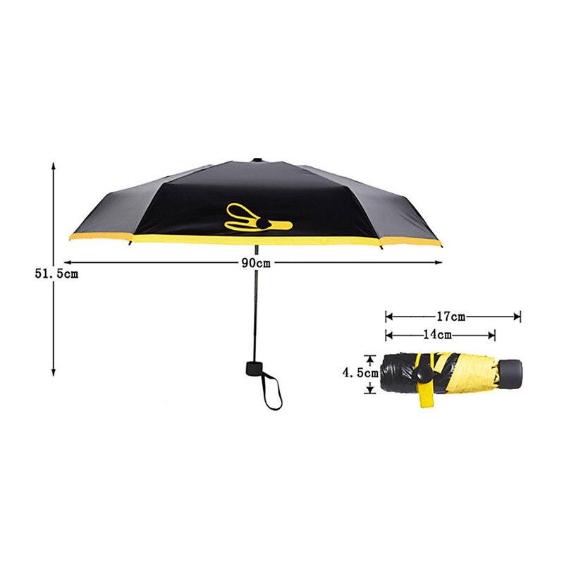 Colorful Mini Pocket Umbrella Fashion Rain Covers Compact Folding Travel Parasol Light Portable Small