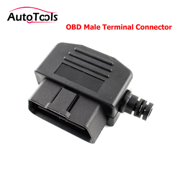 100pcs/lot via DHL Auto car OBD2 Connector 16pin Male Plug 16 Pin OBD II OBD2 Diagnostic tool Male Terminal Plug