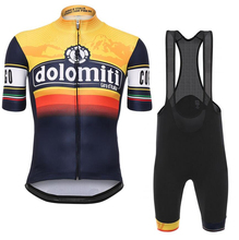 Tour De Italy D'ITALIA Cycling Clothing Men Set Bike Clothing Breathable Anti-UV Bicycle Wear/Short Sleeve Cycling Jersey Sets