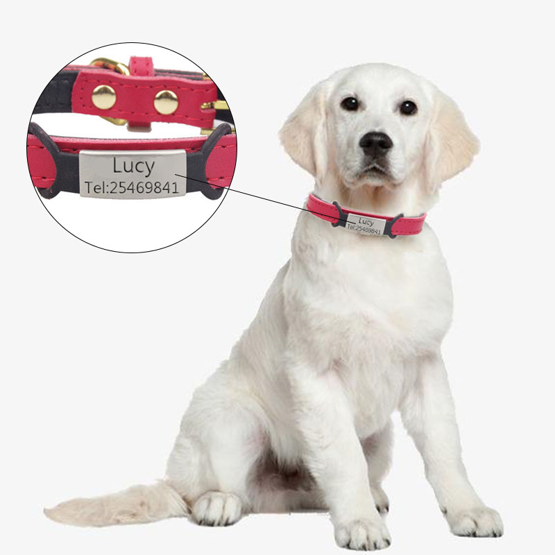 Personalized Customized Dog ID Tag Engraving Pet Cat Name Tags Pendant Nameplate Dog Collar Accessories Pet TEL Metal Custom