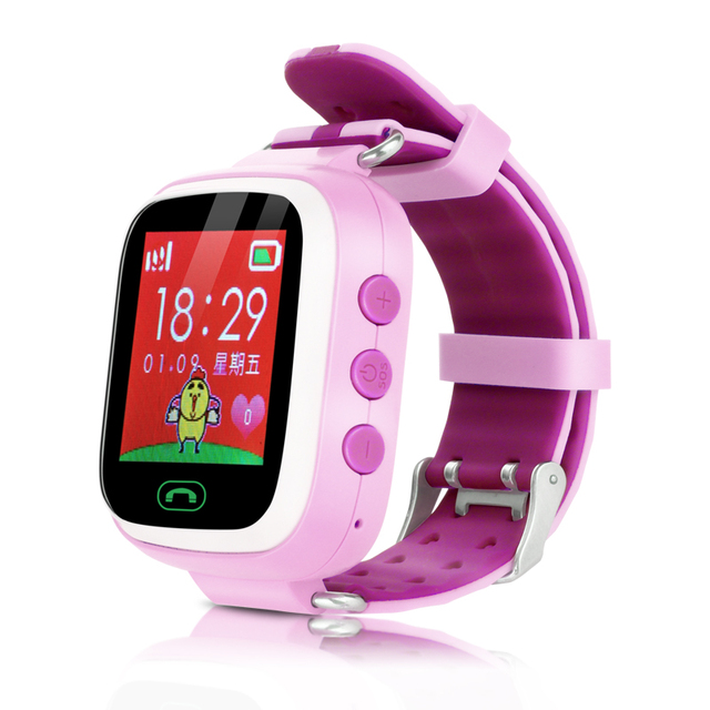 Hot Kid GPS Smart Watch Wristwatch SOS Call Location Finder Locator Device Tracker for Kid Safe Anti Lost Monitor Baby Gift A6