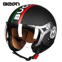 Moto mezzo del fronte del casco per le donne e gli uomini, BEON 100b casco motocross capacete bici di sicurezza della bicicletta elettrica
