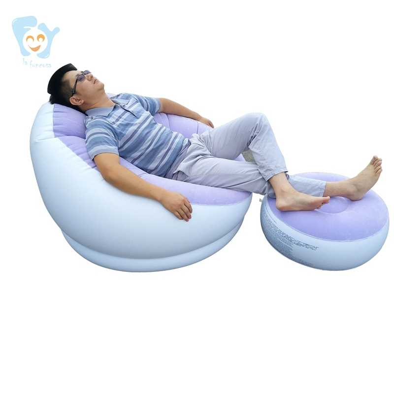 Inflatable โซฟาสตูล One Person Inflatable Lounge เก้าอี้