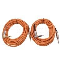 Yibuy 2 шт. 6 м оранжевый ПВХ Медь core Гитары патч-кабель 1/4