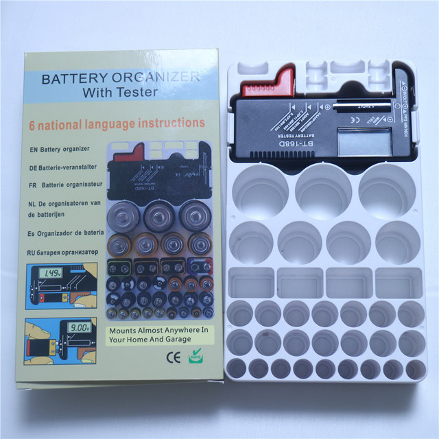 HIREED MINI Batteries Storage Box Case Organizer For AA AAA 9V AG CR C D  With BT168