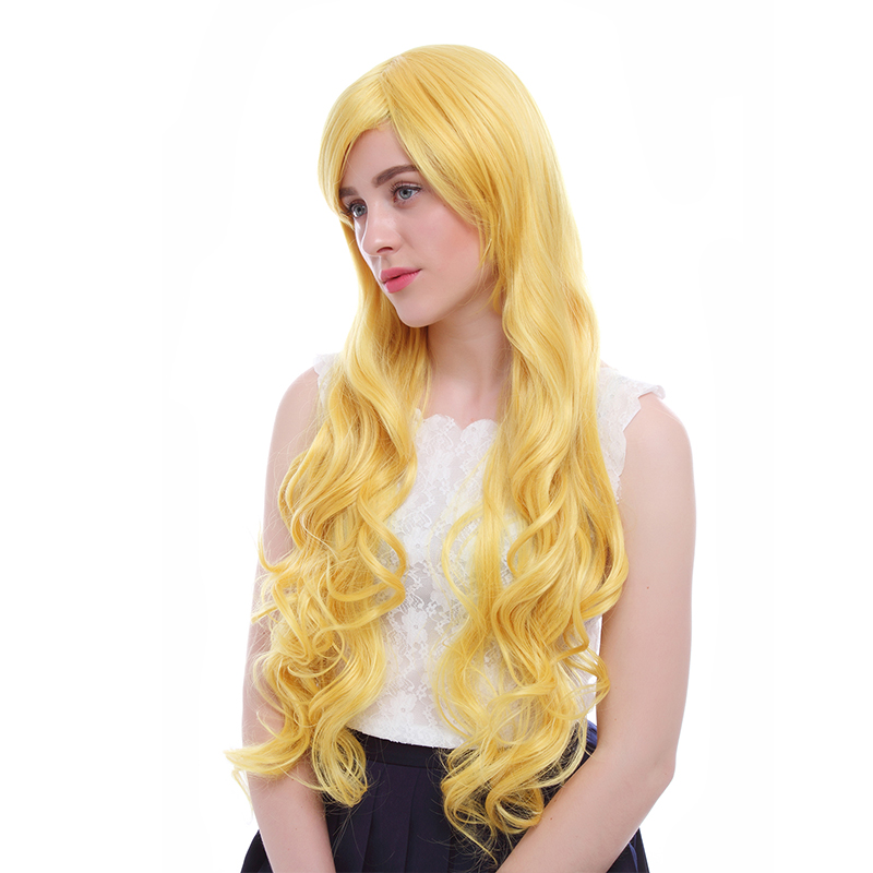 L-email wig New Arrival Star vs. The Forces of Evil Cosplay Wigs Yellow Long Heat Resistant Synthetic Hair Perucas Cosplay Wig