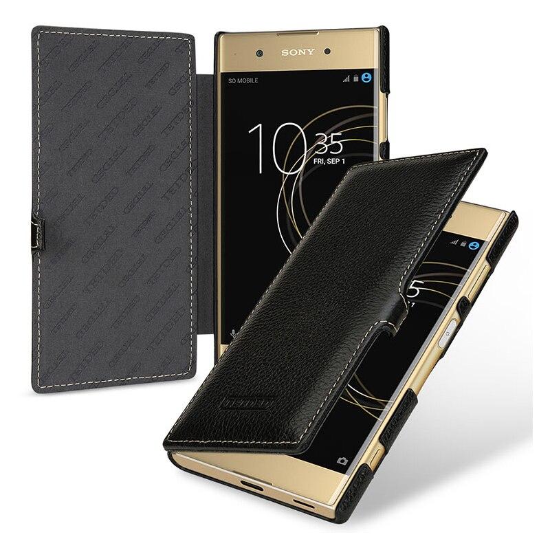 Case for Sony Xperia XA1 & XA1 Plus Case Business Flip Genuine Leather Stand Flip Skin for Sony Xperia XA1 Plus Cover Funda Capa
