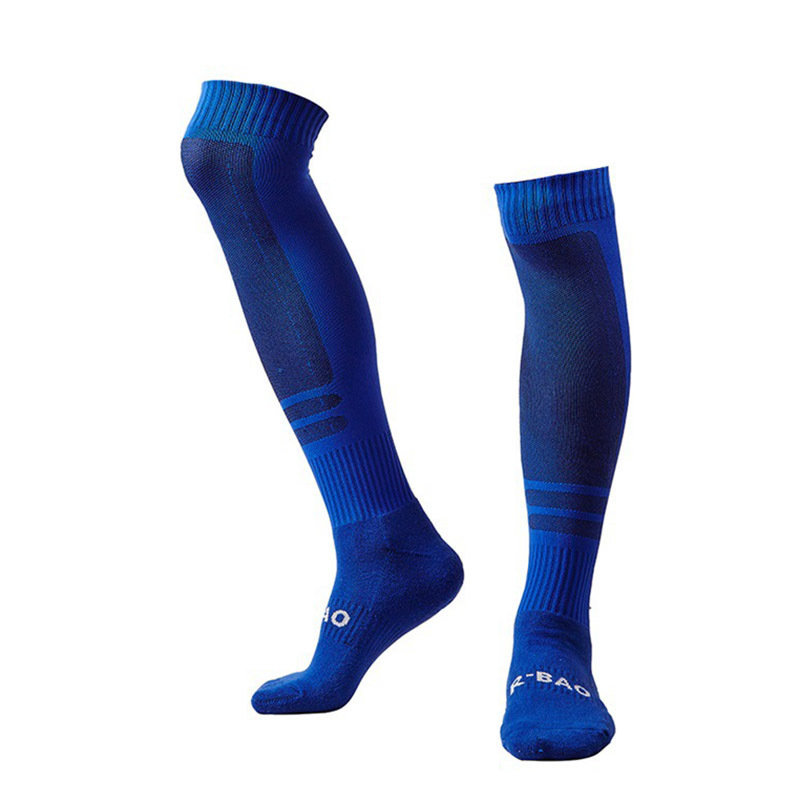 Adults Professional Men Soccer Socks Stocking Sporting Socks Cotton Knee Football Socks Breathable Absorbent Running Socks