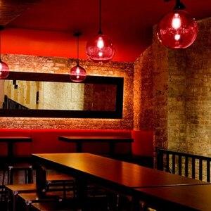 Image 5 - Loft Vintage Antique Industrial 6 szkło kolorowe kulki wisiorek światła oprawy do kuchni restauracja jadalnia/salon Cafe Bar