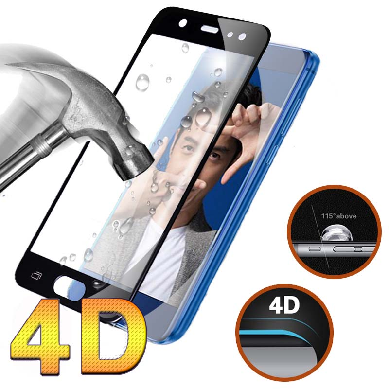 Galleria fotografica 4D Full Cover Tempered Glass For Samsung Galaxy J5 Pro Case Round Curved Edge Screen Protector For Samsung J5 Pro Glass Film
