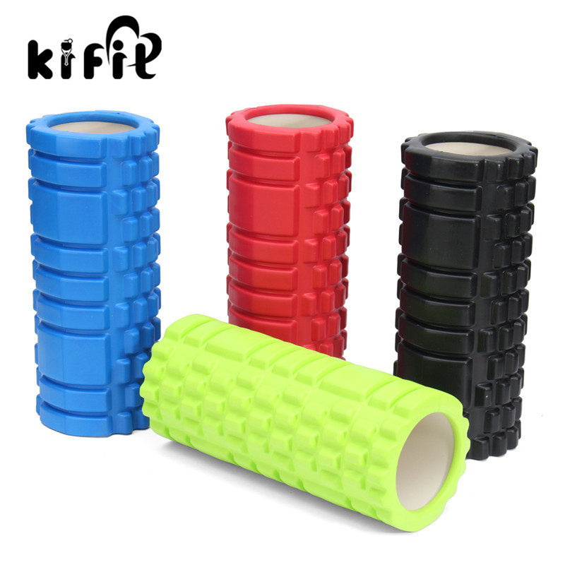 KIFIT Simple EVA Point Floating Yoga Foam Roller Trigger Textured for Fitness Home Gym Exercise Sports Massage Health Care Tool 1pc top healthy organic bamboo wood natural wooden yoga brick training block exercise fitness gym practice tool