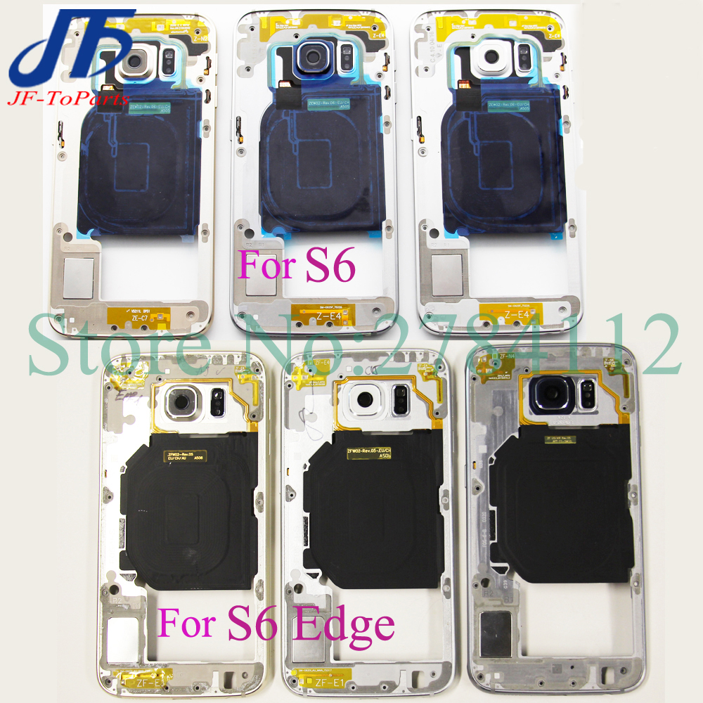 10pcs For Samsung Galaxy S6 G920F S6 Edge G925 Middle Plate Frame Housing Bezel Chassis Back