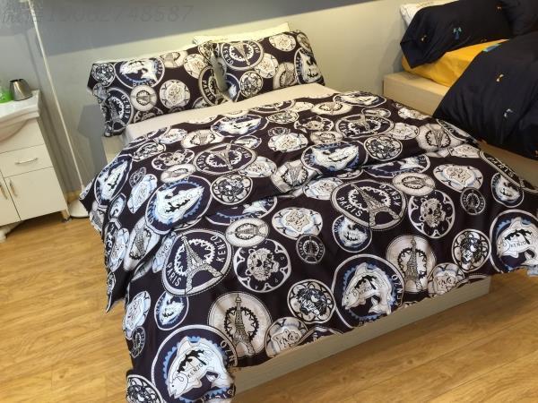 egyptian cotton paris bedding set luxury sheet king size queen black and white quilt duvet cover. Black Bedroom Furniture Sets. Home Design Ideas
