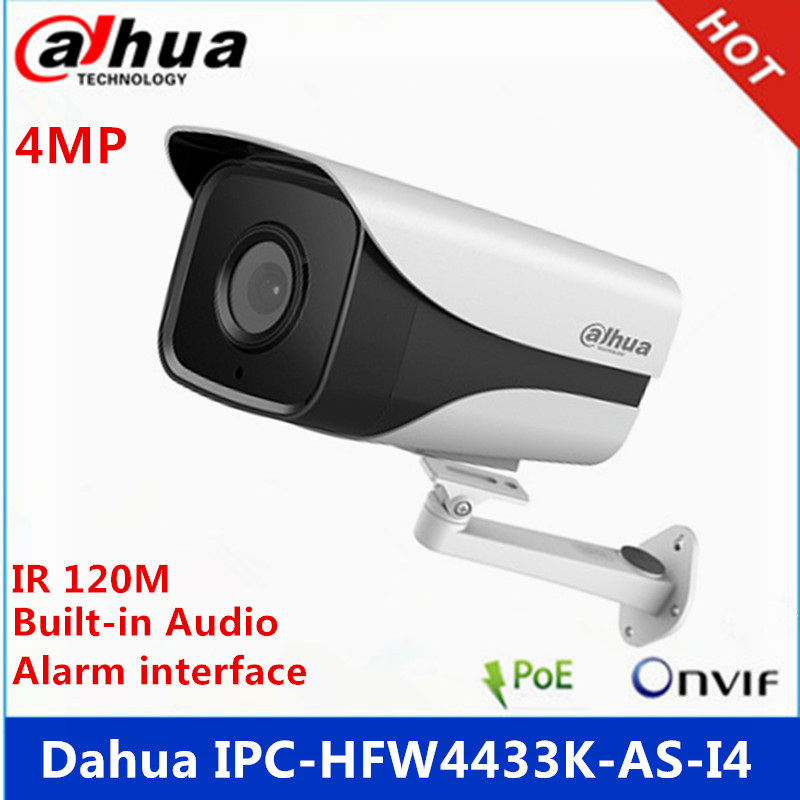 Surveillance Cameras Dahua Ipc-hfw4431k-as-i4 4mp Starlight Camera Ir120m Built-in Audio & Alarm & Sd Card Slot Interface Poe Camera With Bracket Durable Service Back To Search Resultssecurity & Protection