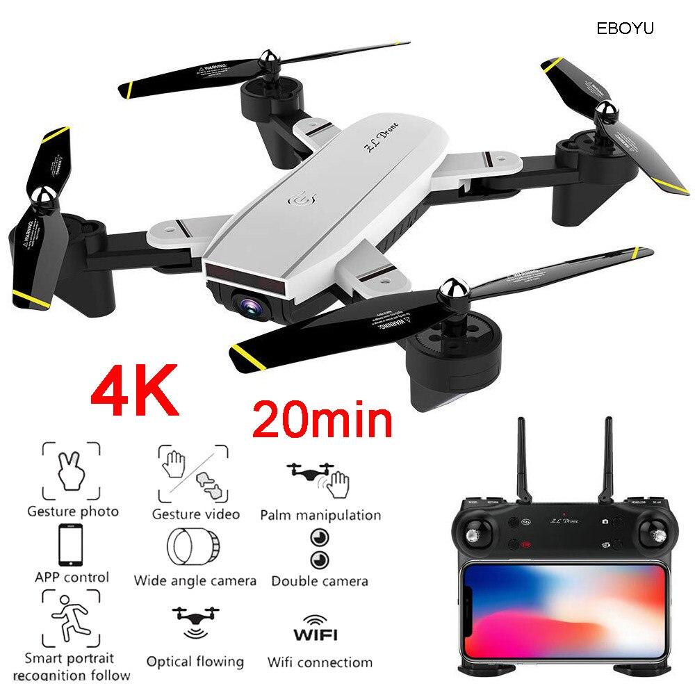 EBOYU LH-X25GWF Dual GPS FPV 2 4G 4CH RC Quadcopter Drone with Follow me  720P HD Camera Wifi Headless Mode RC Drone RTF