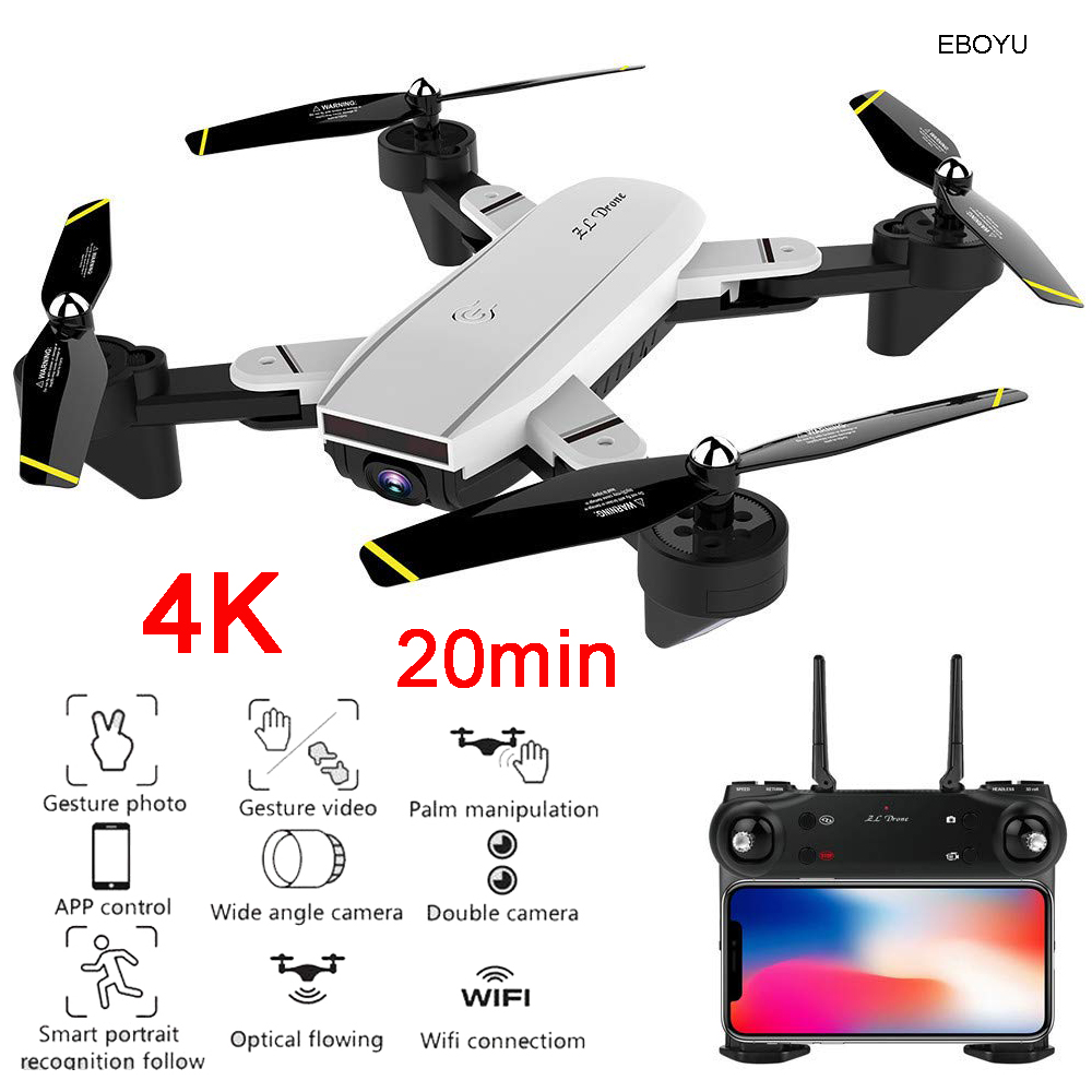 EBOYU SG700D RC Drone 4K/1080P Wide Angle WiFi FPV Camera Optical Flow Positioning Altitude Hold Gesture Control RC QuadcopterEBOYU SG700D RC Drone 4K/1080P Wide Angle WiFi FPV Camera Optical Flow Positioning Altitude Hold Gesture Control RC Quadcopter