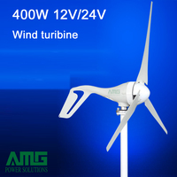 Update 400W 12V 24V 3 5 Blades Horizontal Wind Turbine Generator Home Use BOOST PWM Waterproof
