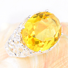 Luckyshine Fashion Aneis Jewelry Rings For Women Men Silver Plated yellow Silver Rings Engagement Jewelry