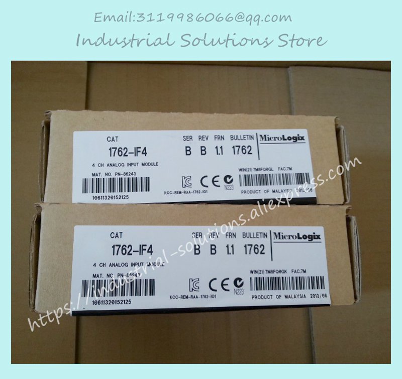 New Original 1762-IF4 AB 1762-IF4 Original 1762-IF4 4 CHANNEL Analog Input Module 1762-IF4 1762 if20f2