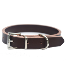 LDC013 Leather Dog Collar Fashion Black Brown Color For Small Standard Dog