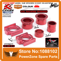 CNC Front & Rear Wheel Hub Spacers & Rear Axle Blocks Chain Adjuster Fit CR125R CR250R CRF250R X CRF450R X Supermoto Motorcycle