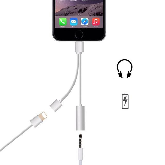 2em1 para relâmpago a 3.5mm fone de ouvido adaptador de dados cabo de carga para iphone 7 6 s além de fone de ouvido