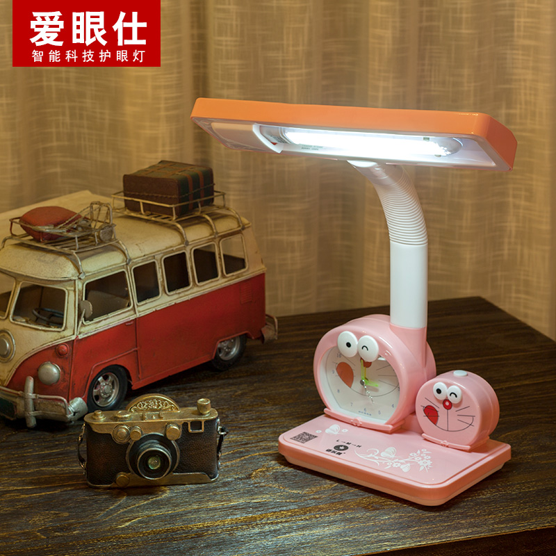 Led Rechargeable Pluging Eye Protection Learning Desk Children Cartoon Lovely Dimming Students Writing Lamp Table Pink and Blue high quality adjustable height protection vision for children learning set of table and chair