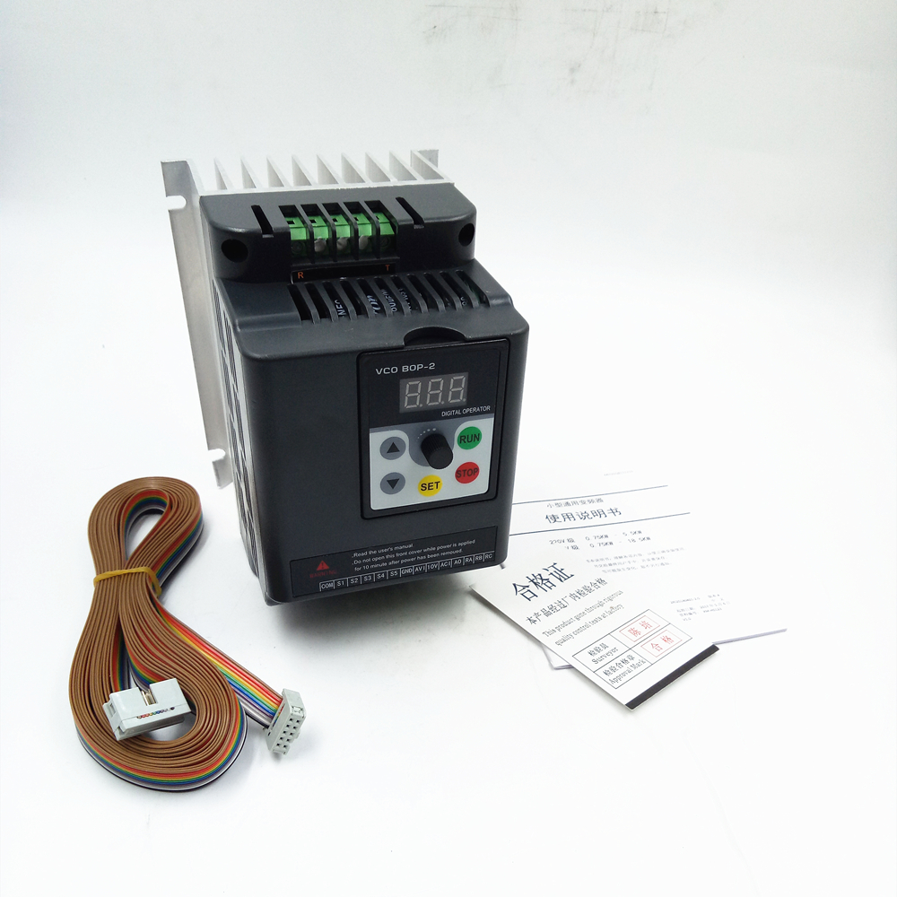 2.2KW 1Ph Motor Drive VFD Output 220v 9.5A, Variable Frequency Drive High Performance Inverter for Lathe 3Ph Asynchronous Motor universal lathe motor drive vfd 1 5kw inverter 2hp 3ph output 380v variable frequency drive for 3 phase asynchronous motor
