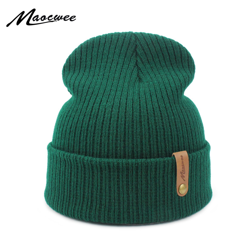 New Fashion Women Men Winter Hat Knitted Skuilles Beanies For Women Hats Balaclava Unisex Winter Cap Men Brand Hat Wholesale(China)