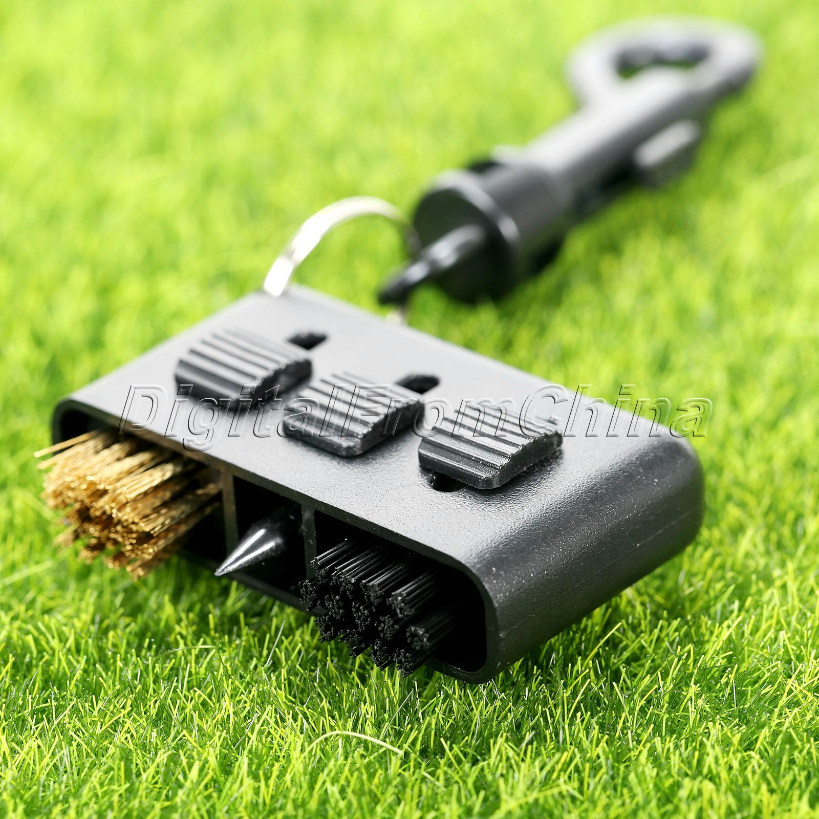1 Unid Negro 3-en-1 Golf Club Cepillo De Limpieza Groove Putter Wedge Zapatos Pe