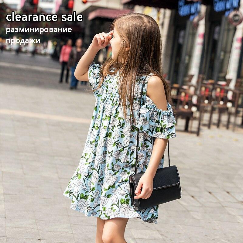 Летни момичета Облечи 10 12 години Тийнейджърска рокля Шифон Памучни рокли за деца Големи момичета Облекло