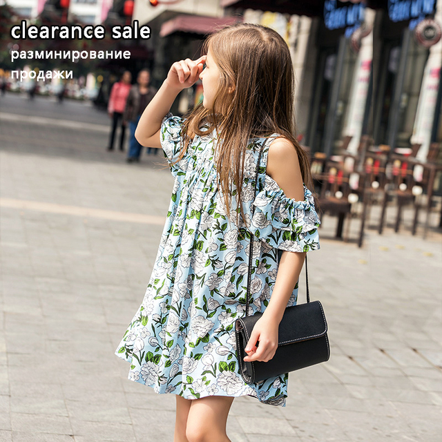 Summer Girls Dress 10 12 years Teenage Dress Chiffon Cotton Dresses for Kids Big Girls Clothing
