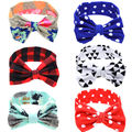 Infant Baby Bow Hnot Headband Girls Turban Knot Head Wrap Kids Floral Hairband Hair Band Accessories