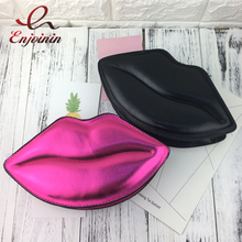 Sexy lips style fashion ladies day clutches chain shoulder bag handbag women's crossbody mini messenger bag purse 4