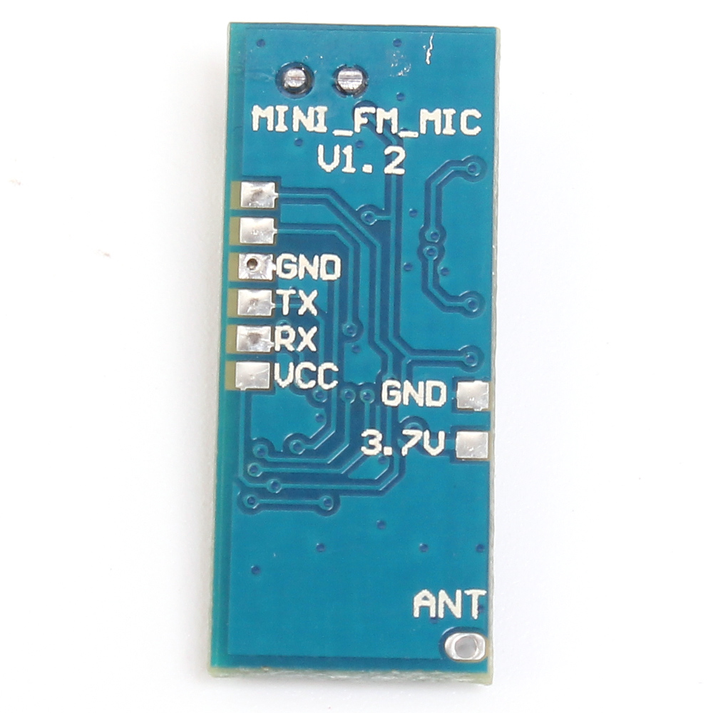 Mini FM Transmitter Module Wireless Microphone Single Channel Board 3-5V 100mW Adjustable Sensitivity PLL 76.0MHz-108.0MHz