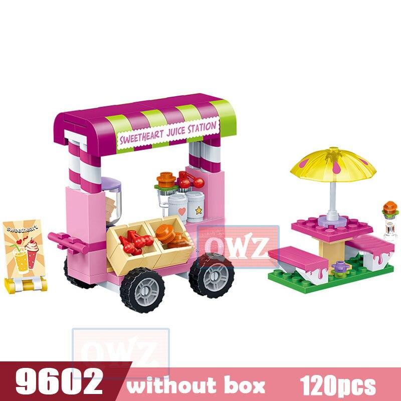 Legoes город девушка друзья большой сад вилла модель строительные блоки кирпич техника Playmobil игрушки для детей Подарки - Цвет: 9602 without box