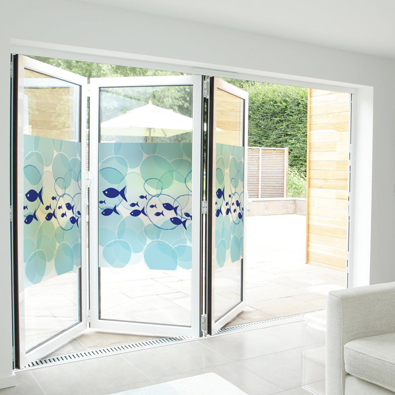 Free Custom Stained Static Cling Window Film Frosted