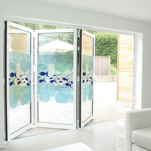 Bathroom Window Privacy Film Lowes: Free Custom Stained Static Cling Window Film Frosted